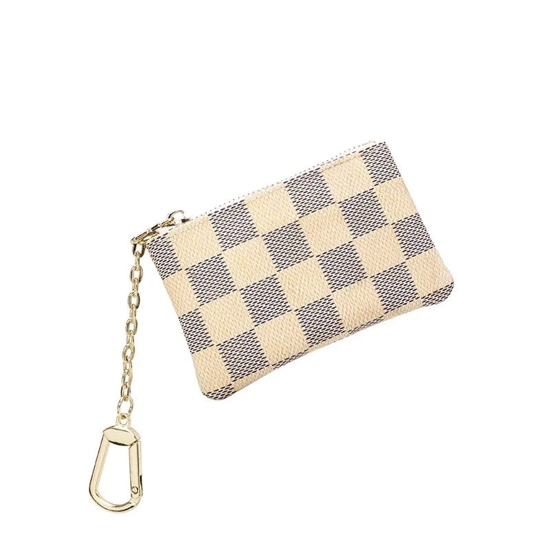 Checkered Coin purse-[Womens_Boutique]-[NFR]-[Rodeo_Fashion]-[Western_Style]-Calamity's LLC