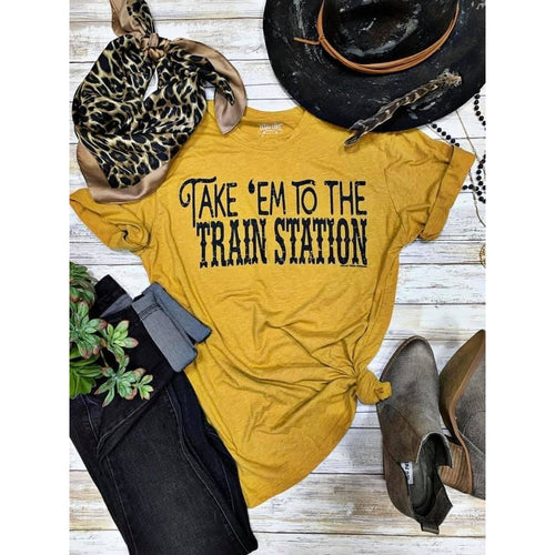 Train Station, Graphic T-[Womens_Boutique]-[NFR]-[Rodeo_Fashion]-[Western_Style]-Calamity's LLC