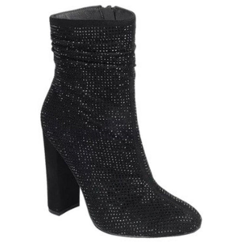 Get your groove on black booties - All Blinged Out/Calamity's