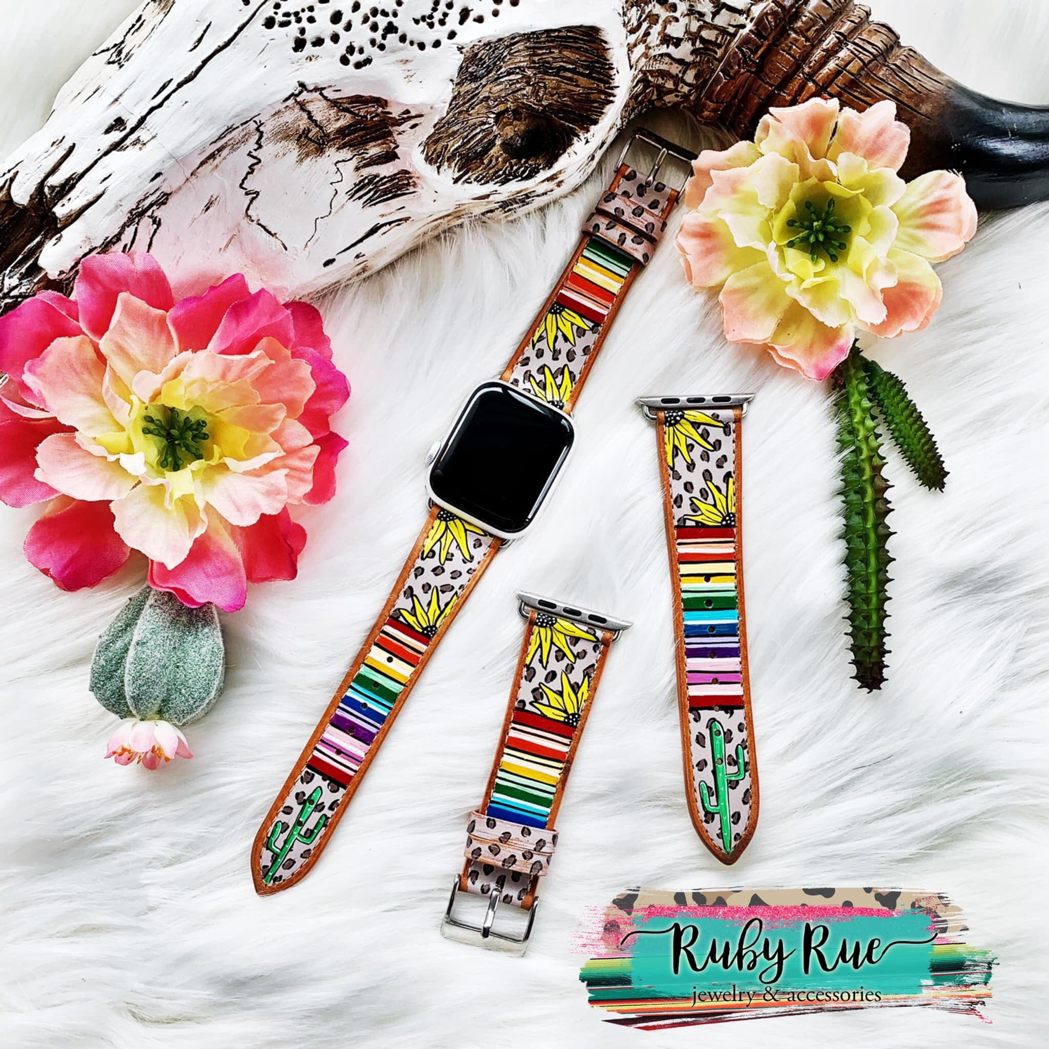 Hand painted Watch Bands-Accessories-[Womens_Boutique]-[NFR]-[Rodeo_Fashion]-[Western_Style]-Calamity's LLC