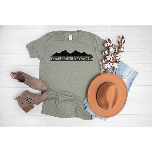 I got lost in Livingston Graphic T-Shirt-[Womens_Boutique]-[NFR]-[Rodeo_Fashion]-[Western_Style]-Calamity's LLC