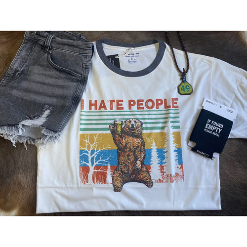 I Hate People, Graphic T-Shirt-[Womens_Boutique]-[NFR]-[Rodeo_Fashion]-[Western_Style]-Calamity's LLC