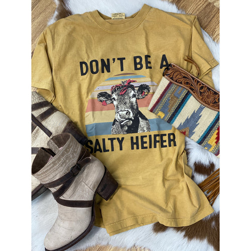 Don't be a Salty Heifer, Graphic Tee-Graphic Tee-[Womens_Boutique]-[NFR]-[Rodeo_Fashion]-[Western_Style]-Calamity's LLC