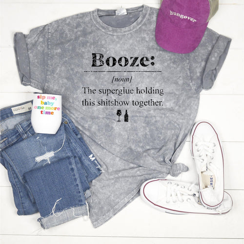 Booze T-shirt-Shirt-[Womens_Boutique]-[NFR]-[Rodeo_Fashion]-[Western_Style]-Calamity's LLC