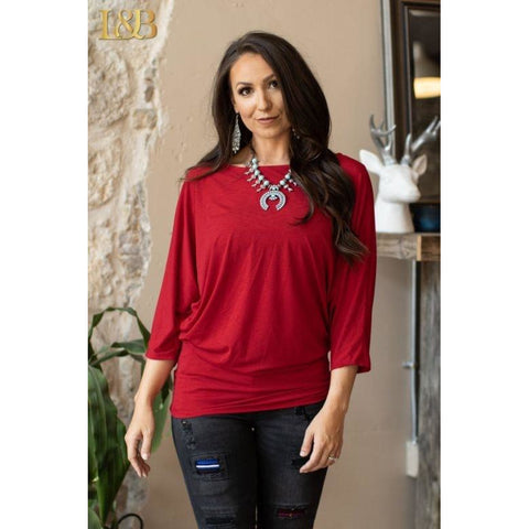 Burgundy long sleeve tunic