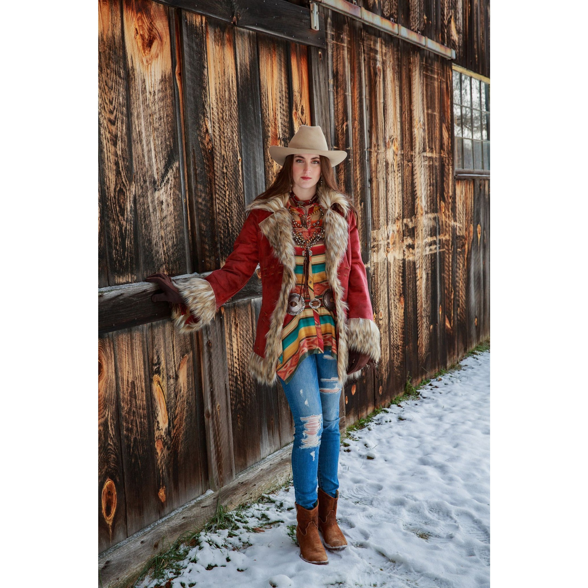 Tasha Polizzi, Maria Serape Button up-Shirt-[Womens_Boutique]-[NFR]-[Rodeo_Fashion]-[Western_Style]-Calamity's LLC