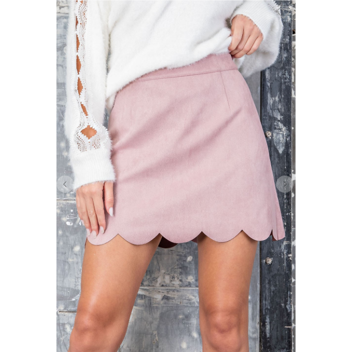Mauve suede skirt-[Womens_Boutique]-[NFR]-[Rodeo_Fashion]-[Western_Style]-Calamity's LLC