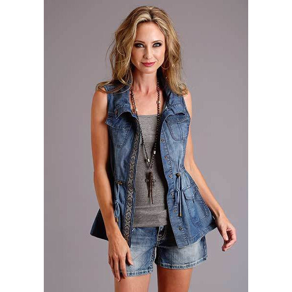 Stetson Denim Cargo Vest - All Blinged Out/Calamity's