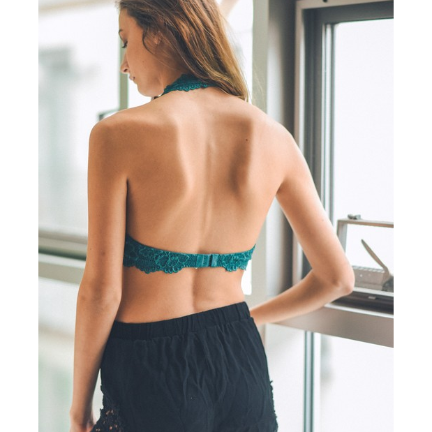 The Kasey Teal Bralette - All Blinged Out/Calamity's
