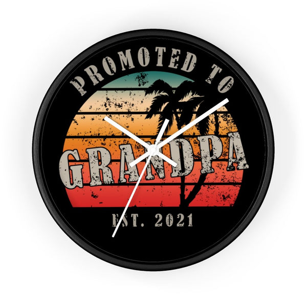 "Home Decor 10"" / Black / White Promoted To Grandpa 2021 