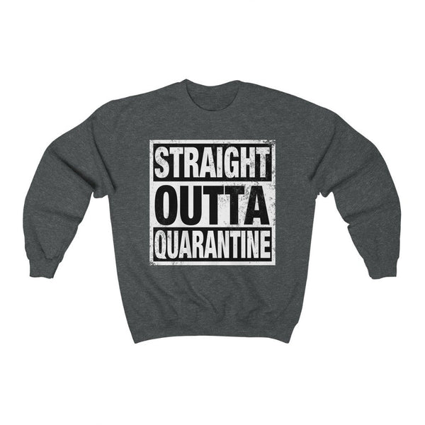 Sweatshirt Dark Heather / S Straight Outta Quarantine | Unisex Heavy Blend™ Crewneck Sweatshirt KRG Prints