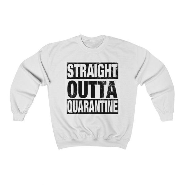 Sweatshirt White / S Straight Outta Quarantine | Unisex Heavy Blend™ Crewneck Sweatshirt KRG Prints