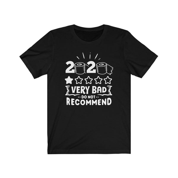 T-Shirt Black / L 2020, One Star, Very Bad, Do Not Recommend | Jersey Short Sleeve Tee KRG Prints