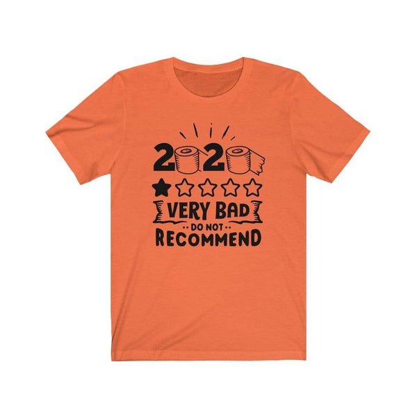 T-Shirt Orange / XS 2020, One Star, Very Bad, Do Not Recommend | Jersey Short Sleeve Tee KRG Prints
