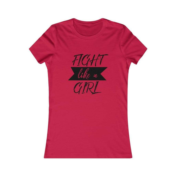 T-Shirt Red / S Fight Like A Girl | Women's Tee KRG Prints