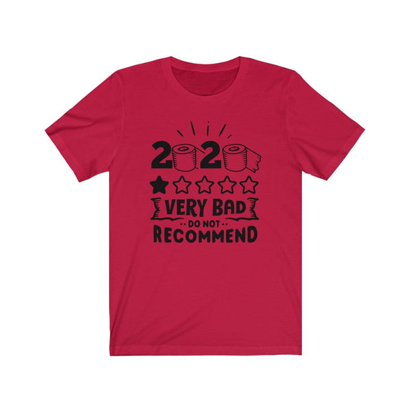 T-Shirt Red / XS 2020, One Star, Very Bad, Do Not Recommend | Jersey Short Sleeve Tee KRG Prints