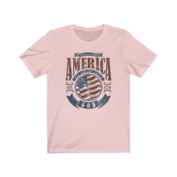 T-Shirt Soft Pink / XL America One Nation Under God | Unisex Jersey Short Sleeve Tee KRG Prints