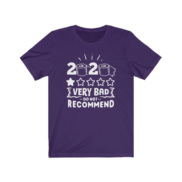 T-Shirt Team Purple / XS 2020, One Star, Very Bad, Do Not Recommend | Jersey Short Sleeve Tee KRG Prints
