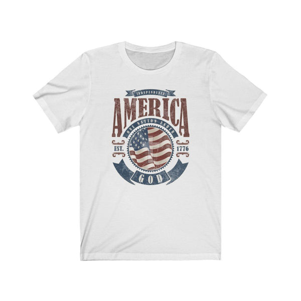 T-Shirt White / L America One Nation Under God | Unisex Jersey Short Sleeve Tee KRG Prints