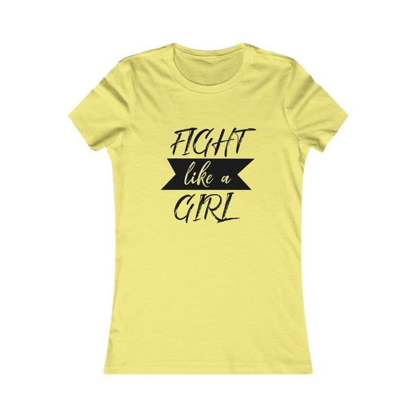 T-Shirt Yellow / S Fight Like A Girl | Women's Tee KRG Prints