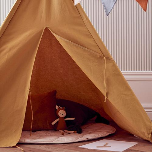 gele tipi speeltent kids concept lollipop rebels