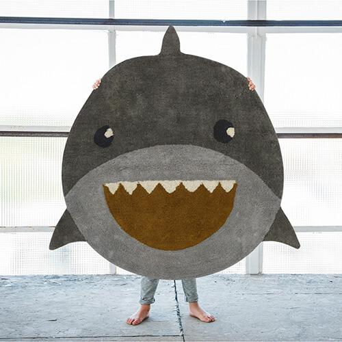 groot leuk tapijt shark tapis petit lollipop rebels