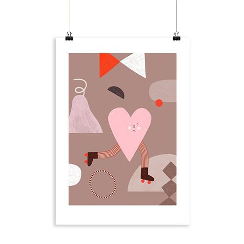 heart print kinderkamer speelkamer a3 lollipop rebels