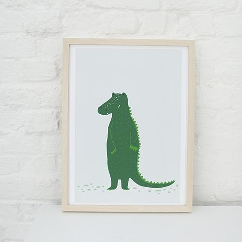mr crocodile trixie poster babykamer kinderkamer lollipop rebels