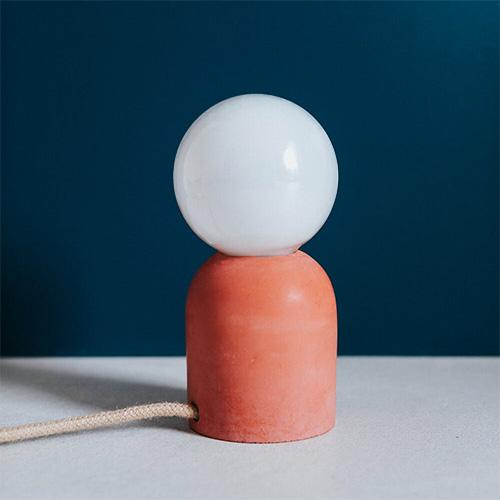 Handgemaakt lampje in beton - Terracotta - Lollipop Rebels
