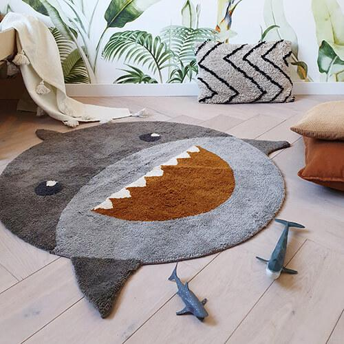schattig shark vloerkleed tapis petit decoratie lollipop rebels