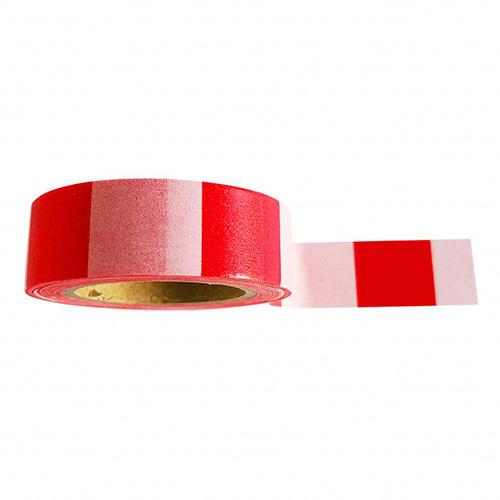 Washi tape streepjes - Roze rood - Lollipop Rebels
