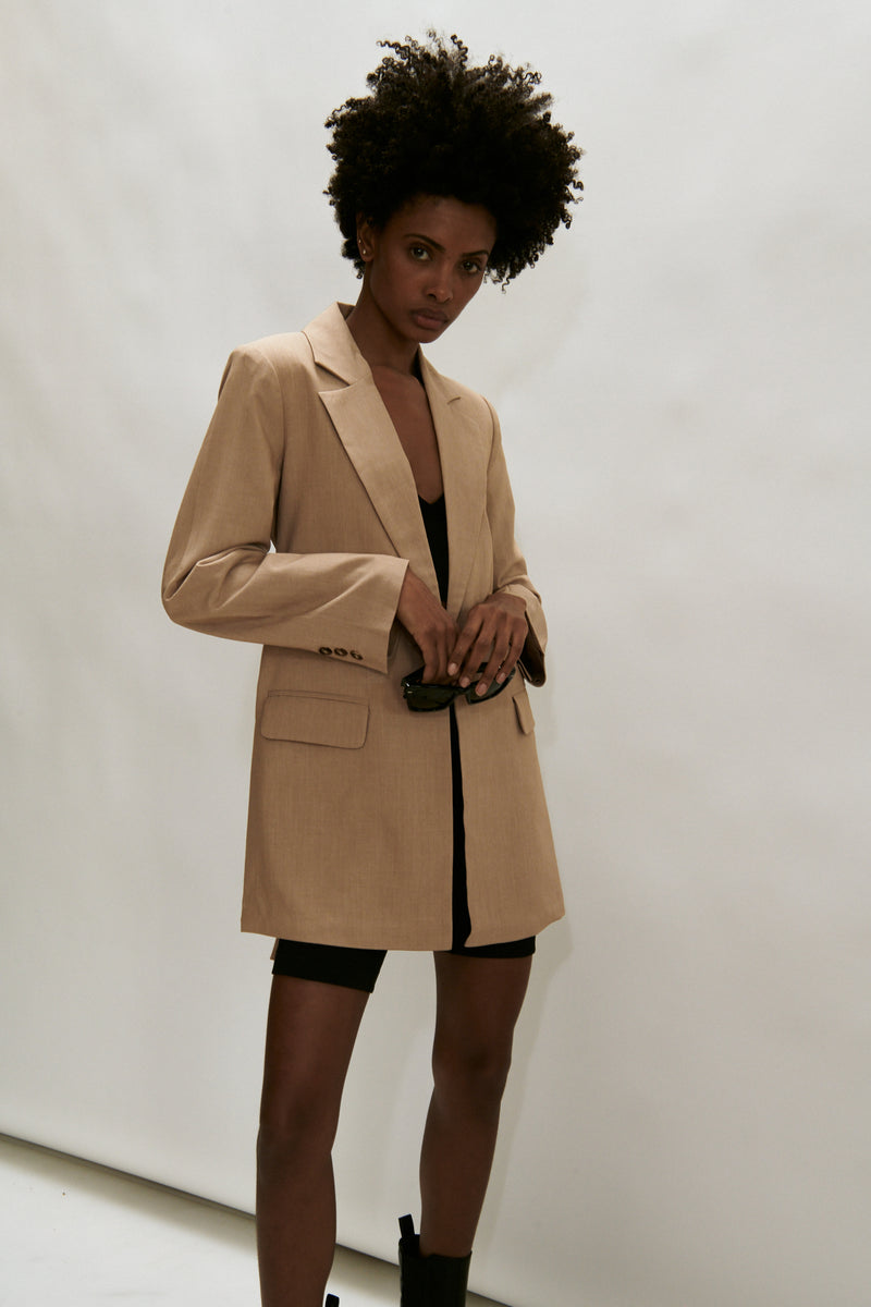 The Madison Ave Tie Front Blazer