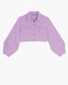 The Essex Cropped Shirt Jacket- Violet