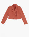 The Greenwich Cropped Blazer- Brick