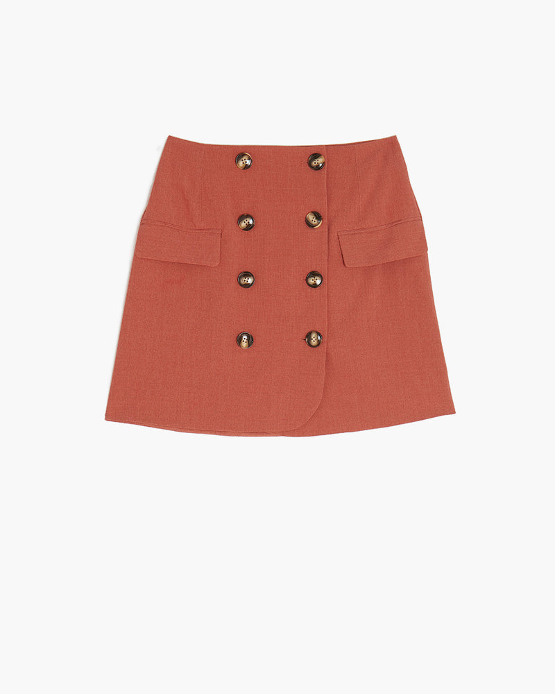 The Greenwich Mini Skirt- Brick