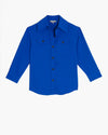 The Ludlow Shirt Jacket- Cobalt Blue
