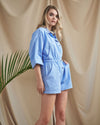 The Out East Romper- Sky Blue