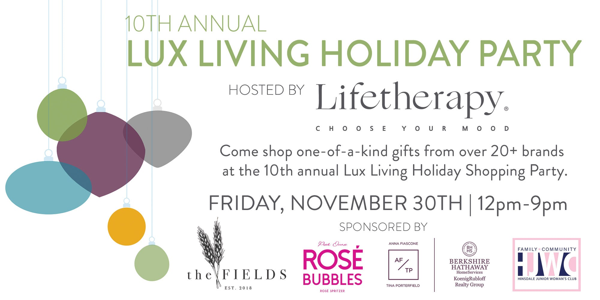 Lux Living Holiday Shopping Event | Hinsdale, IL