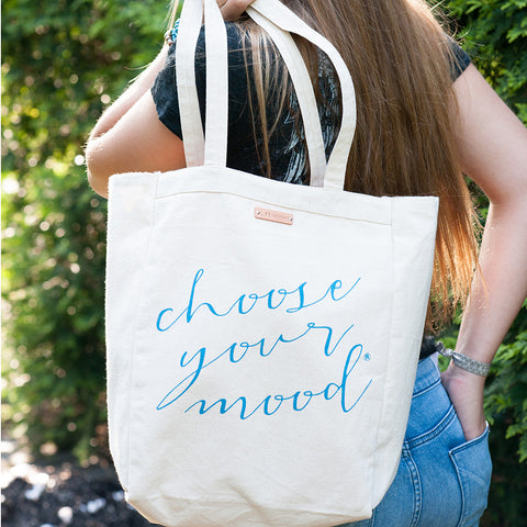 Choose your mood canvas tote bag | Lifetherapy
