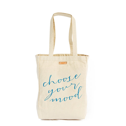 Choose your mood tote bag with copper | Lifetherapy