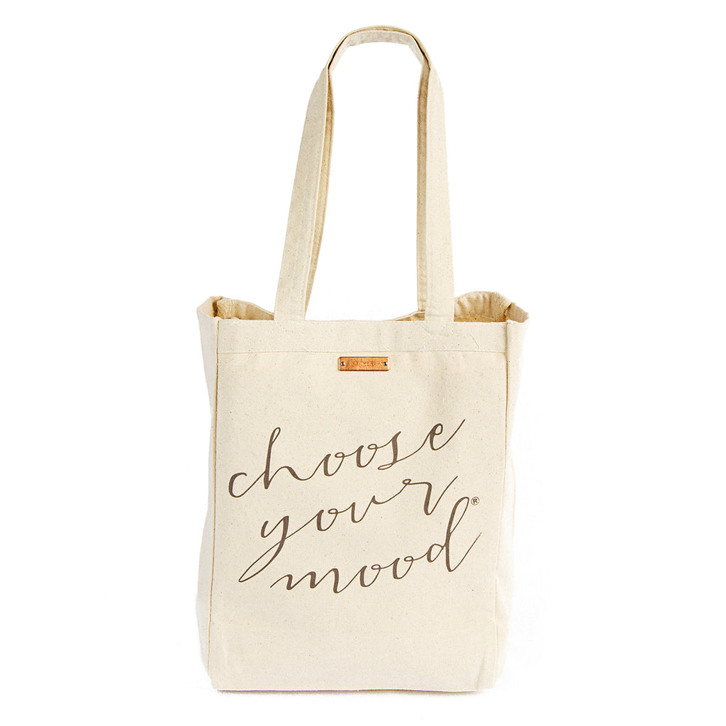 Choose your mood tote bag grey | Lifetherapy