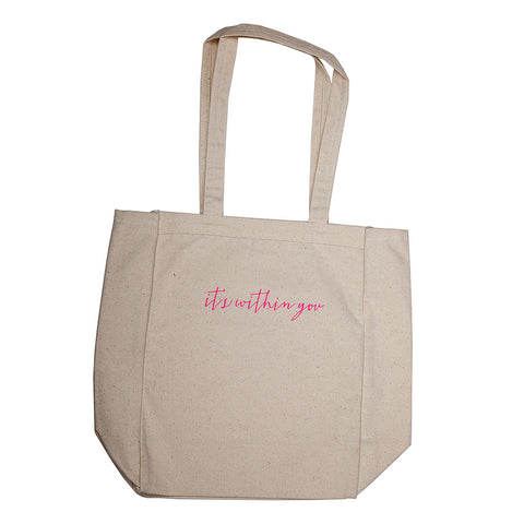Choose your Mood Canvas Tote Bag - Pink
