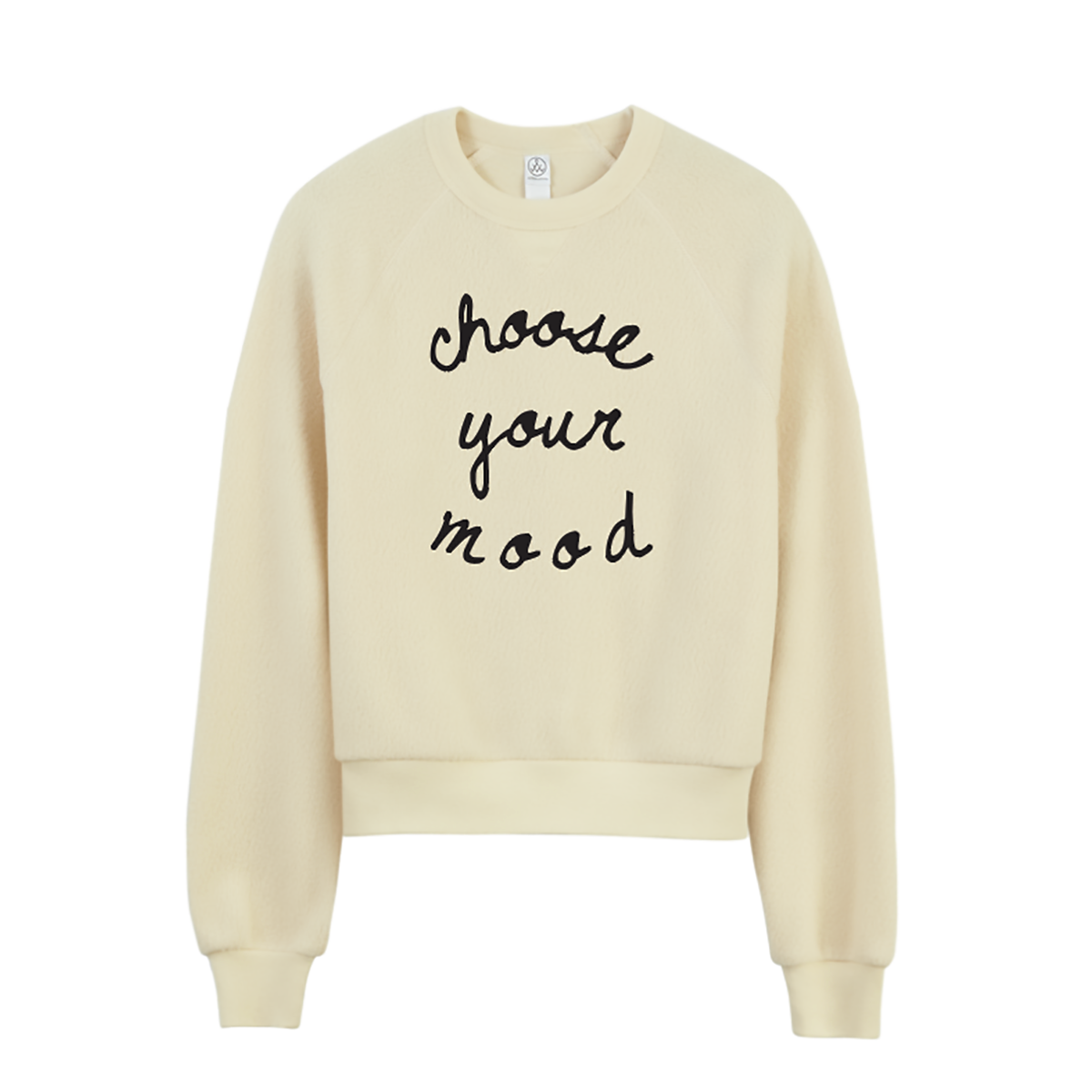 Choose Your Mood Teddy Sweatshirt - Cream