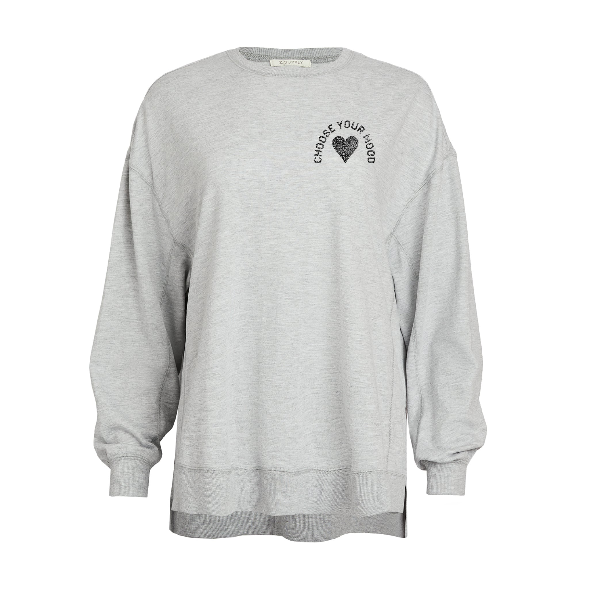 Choose Your Mood Heart French Terry Sweatshirt