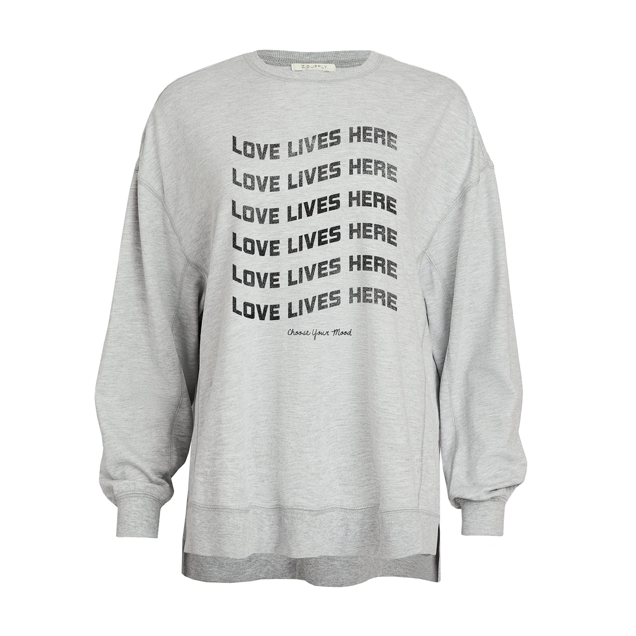 Love Lives Here in Heather Grey