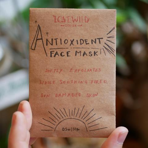 Organic Antioxidant Face Mask by Lovewild Designs