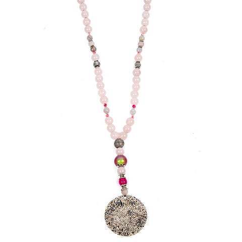 Rose quartz mood bead necklace | Lifetherapy Choose your mood