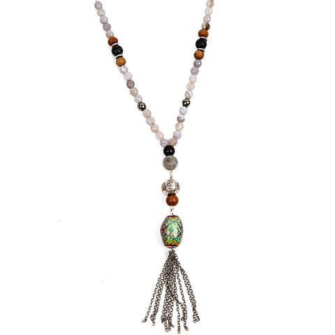 Agate mood bead necklace | Lifetherapy choose your mood
