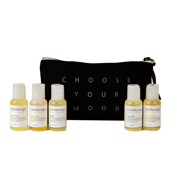 Travel Body Wash & Bubbling Bath Gift Pouch