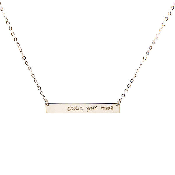 Choose your mood bar necklace